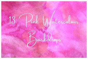 13 Watercolour Backgrounds