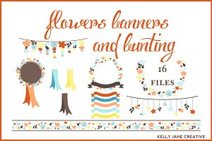 Flowers, Banners, & Bunting -Autumn