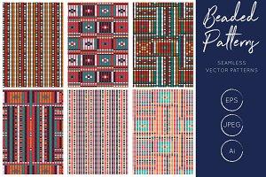 Bead Effect Tribal Seamless Patterns
