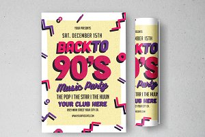90's Music Party Flyer