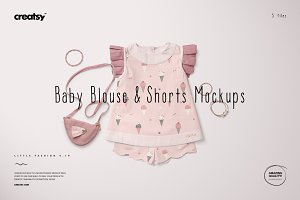 Baby Blouse & Shorts Mockup Set