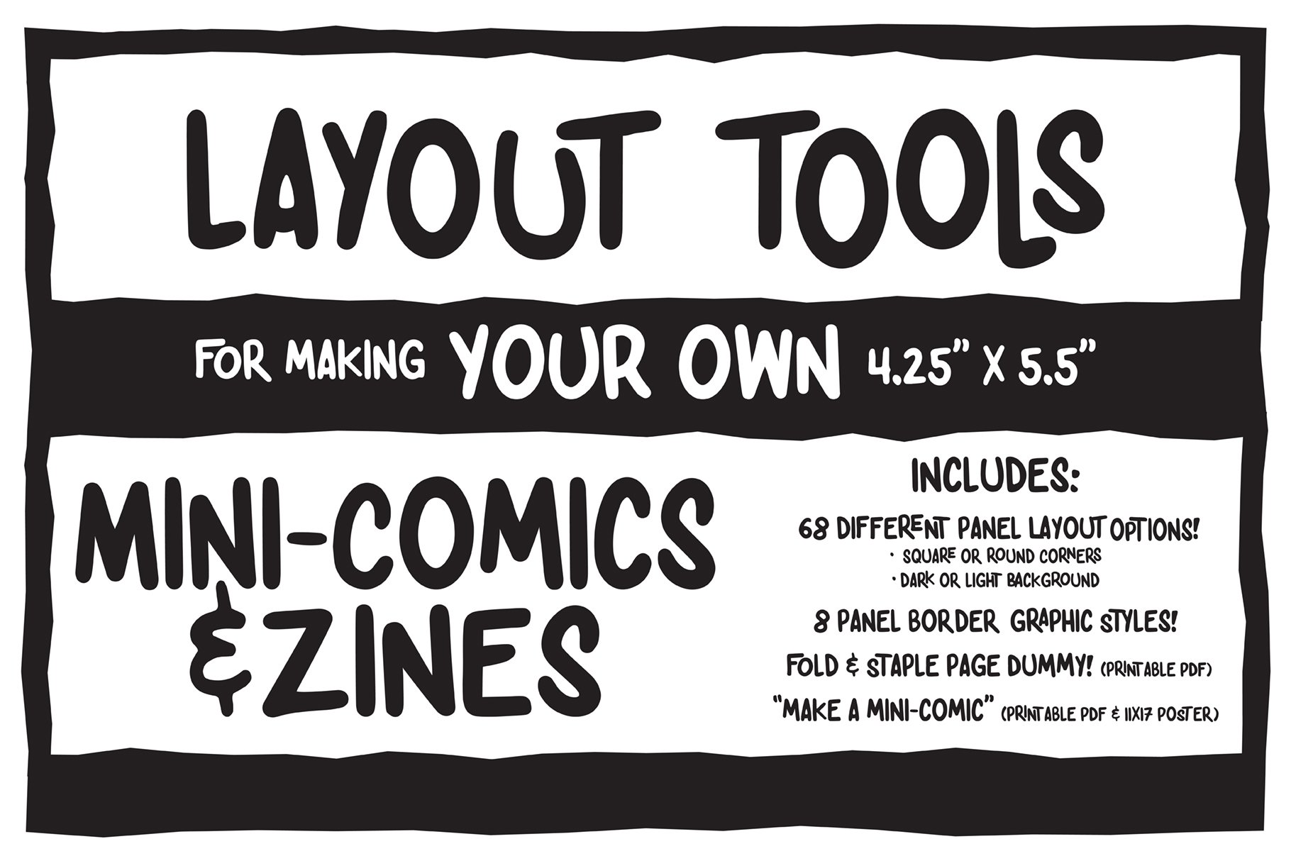 mini comic zine making toolkit other design software. Black Bedroom Furniture Sets. Home Design Ideas