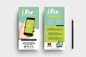 Phone Repair Shop DL Card Template