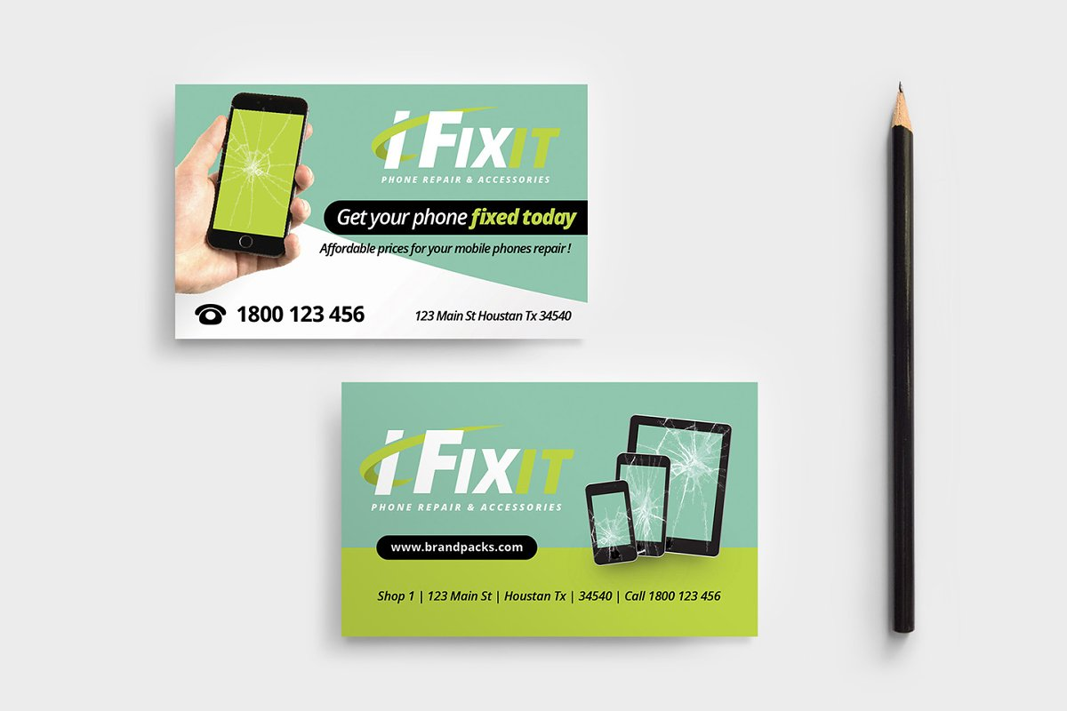 Phone Repair Shop Business Card Business Card Templates Creative