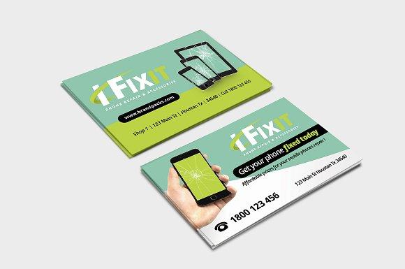 Phone repair shop business card business card templates creative phone repair shop business card business card templates creative market colourmoves
