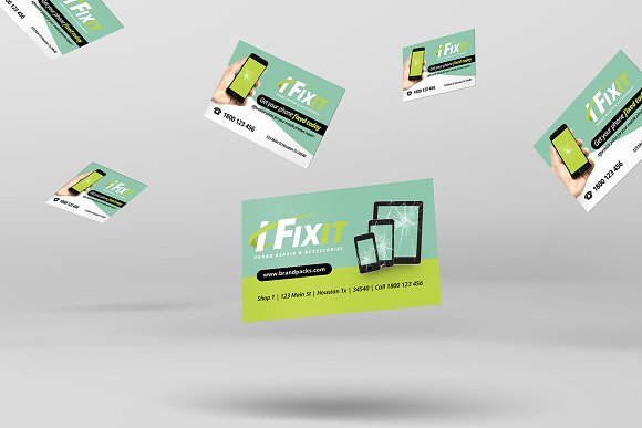 Phone Repair Business Card Templates Creative Market
