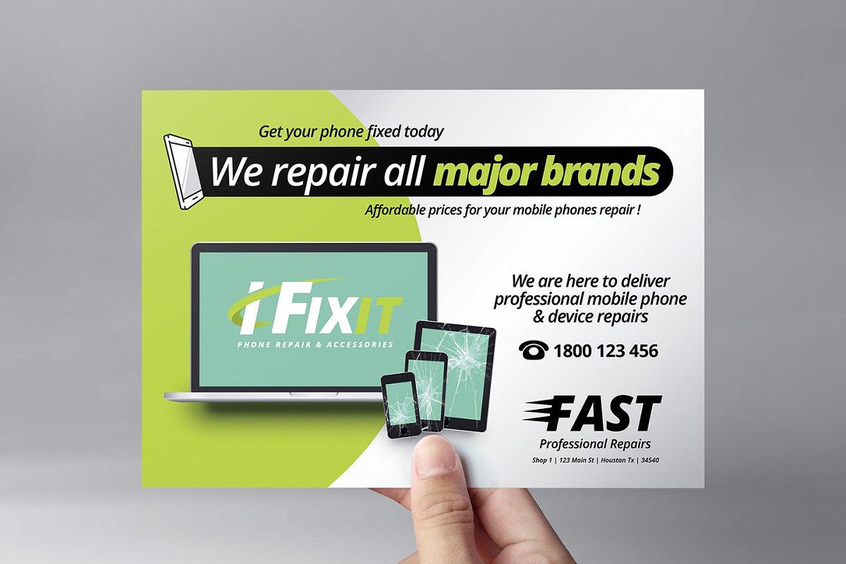 Phone Repair Shop Flyer Template ~ Flyer Templates
