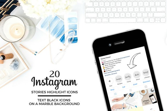 TEXT Theme Instagram Icons in Instagram Templates