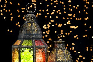 Oriental light lantern decoration