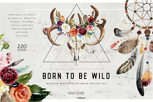 70% OFF Born To Be Wild - Design Set