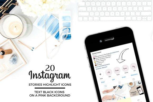 TEXT Theme Instagram Icons