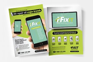 A4 Phone Repair Shop Poster Template