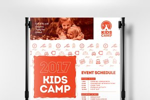 Kids Camp Poster Template