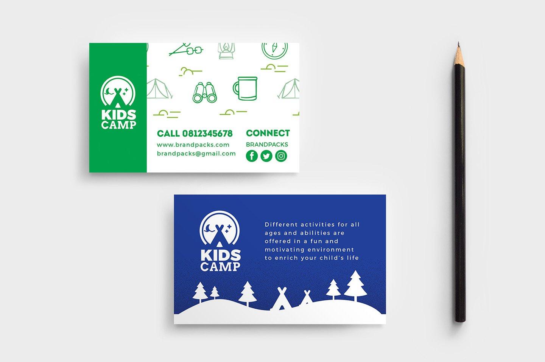 Kids Camp Business Card Template Business Card Templates - Kid business card template