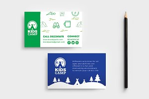 Kids Camp Business Card Template