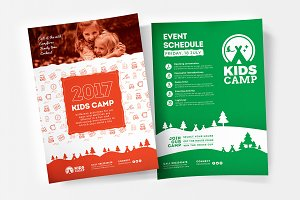 A4 Kids Camp Poster Template