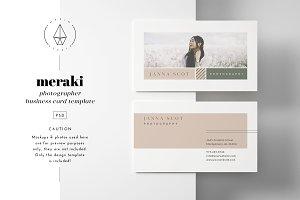 Meraki - Business Card Template