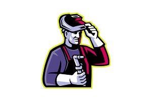 Welder Welding Torch Mascot