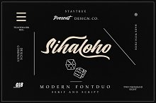 Sihaloho Font Duo by Design Co in Serif Fonts