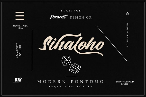 Serif Fonts: Design.co - Sihaloho Font Duo
