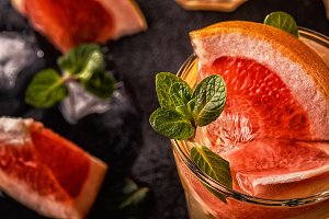 Grapefruit homemade cocktail