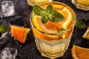 Orange homemade cocktail