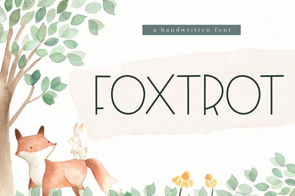 Display Fonts: KA Designs - Foxtrot - Handwritten Font