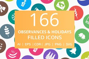 166 Observance & Holiday Filled Icon