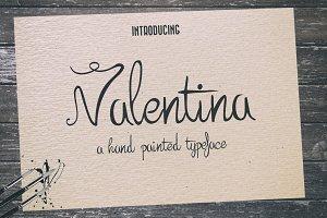 Valentina Typeface + Extras