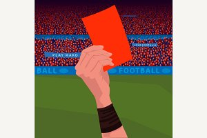Close up hand holding red card