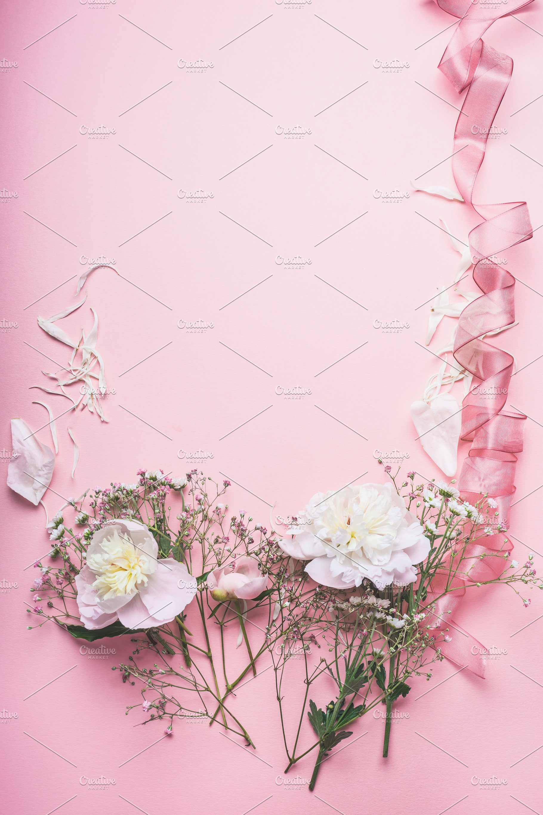 Pastel Pink Floral Background High Quality Arts Entertainment