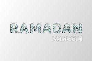 Ramadan Kareem typography design.