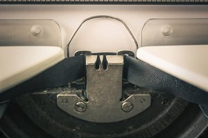 typewriter with paper sheet