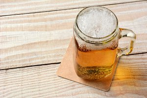 Beer in a Mason Jar
