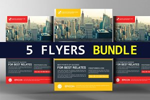 5 Business Flyers Corporate Progress