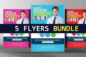 5 Website Designer Flyers Bundle