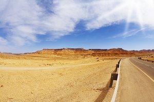 highway in stone desert