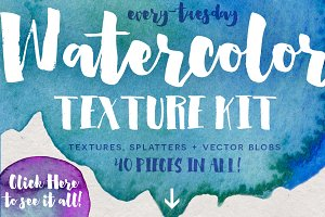 Watercolor Texture Kit