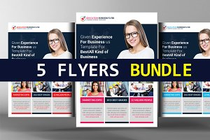 5 Innovative Business Flyers Bundle