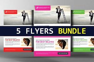 5 Elegant Business Flyers Bundle