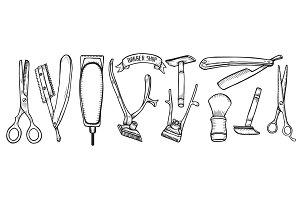 Barber shop illustration