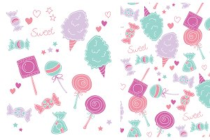 Sweet Candy Vector Pack & Pattern