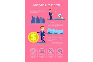 Analytics Research Data Vector Illustration