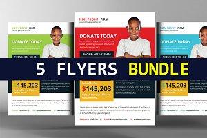 5 Charity Donation Flyers Bundle