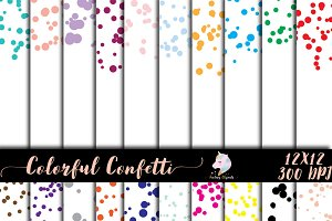 Colorful Confetti Overlay Clipart