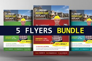 5 Contractor Flyers Bundle