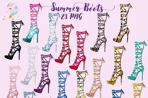 Summer Boots Clipart