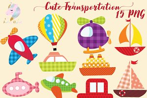 Cute Transportation Clipart
