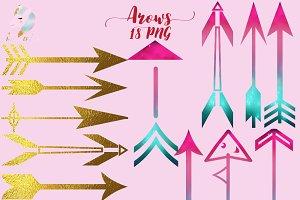 Arrows Silhouette Clipart