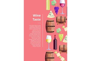 Wine Taste Visualization Vector Illustration Text